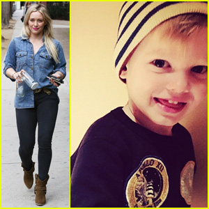 Hilary Duff and son