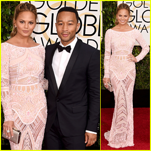 John Legend & Chrissy Teigen Are A Classy Duo at the Golden Globes 2015 Red Carpet