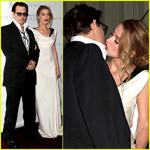 Johnny Depp & Amber Heard Share Super Steamy Kiss (Photo)