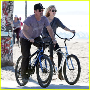 Josh Brolin & His Girlfriend Kathryn Boyd Take a Bike Ride Together