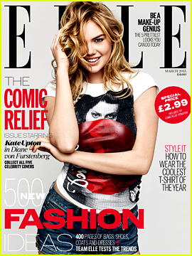 Kate Upton Gives Comic Relief for 'Elle UK's New Issue