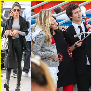 Kendall Jenner & Gigi Hadid Take a Selfie With Ansel Elgort