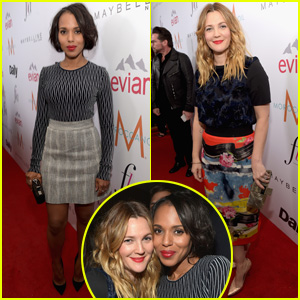 Kerry Washington & Drew Barrymore Buddy Up at 'Daily Front Row' Fashion Awards