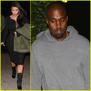 Kim Kardashian & Kanye West Make It A Date Night in Santa Monica!