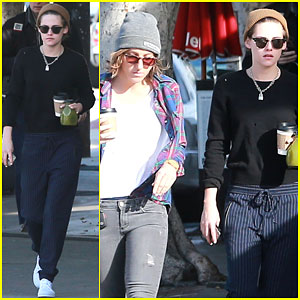 Kristen Stewart & Alicia Cargile Grab Their Morning Coffee Together