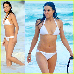 Michelle Rodriguez Flaunts Hot Bikini Body During Mexico Vacation