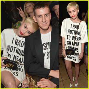 Miley Cyrus Wears Shirt Dress With a Message to 'Daily Front Row' Fashion Awards
