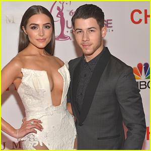 Nick Jonas' Girlfriend Olivia Culpo Turns Heads at Miss Universe 2015 in Cut Out Dress