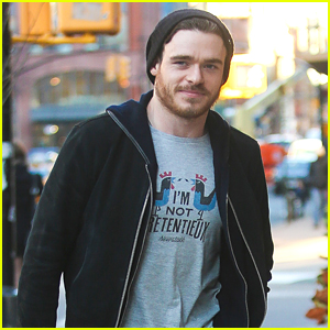Cinderella's Richard Madden Picks Up Groceries In NYC