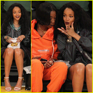 Rihanna Munches on McDonalds & Roots For the Lakers with BFF Melissa Forde!