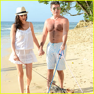 Simon Cowell Gets Shirtless Again While On Vacation with Lauren Silverman