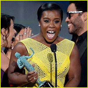 Uzo Aduba Breaks Down During Amazing & Emotional SAG Awards 2015 Best Actress Speech - Watch Now!