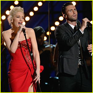Adam Levine & Gwen Stefani Perform 'My Heart Is Open' Duet at Grammys 2015 (Video)