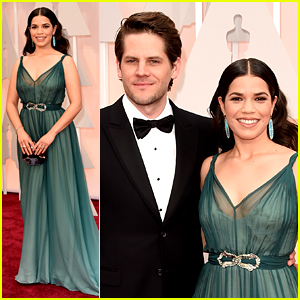 America Ferrera Brings Her Husband to Oscars 2015