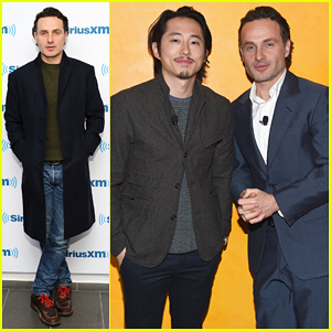 Andrew Lincoln & Steven Yeun Hit NYC for 'Walking Dead' Promo Ahead of Season 5 Midseason Premiere!
