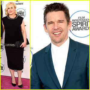 Boyhood's Patricia Arquette & Ethan Hawke Take on Spirit Awards 2015