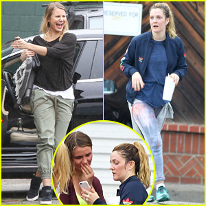 Cameron Diaz & Drew Barrymore Sweat It Out at Dance Class