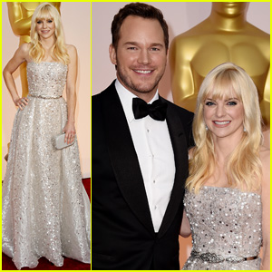 Chris Pratt & Anna Faris Hit the 'Wet Carpet' at Oscars 2015
