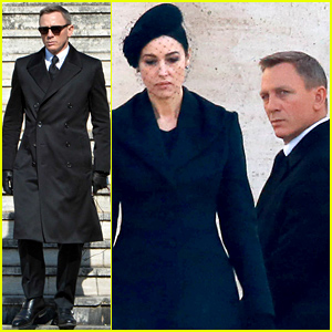 Daniel Craig Dresses In Classic James Bond Suit for 'Spectre' Filming