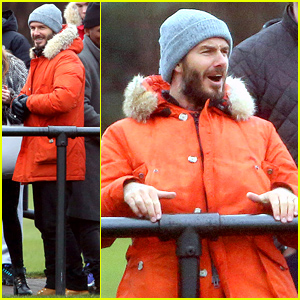 David Beckham Cheers On Son Brooklyn At His Soccer Match!