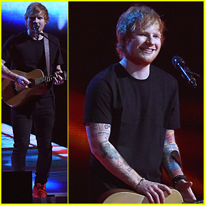 Ed Sheeran Performs 'Bloodstream' & Wins Album of the Year at BRIT Awards 2015