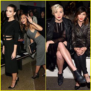 Emily Ratajkowski & Jessica Szohr Take Over New York Fashion Week