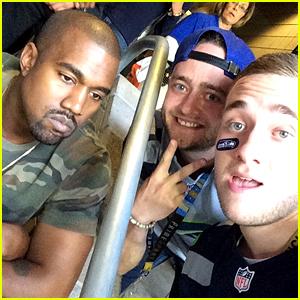 Kanye West's Sad Selfie at Super Bowl 2015 Goes Viral