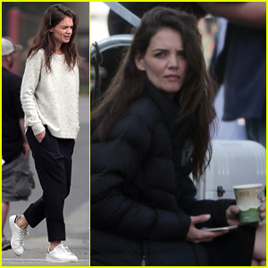 Katie Holmes & Liev Schreiber Get to Work on 'Ray Donovan'