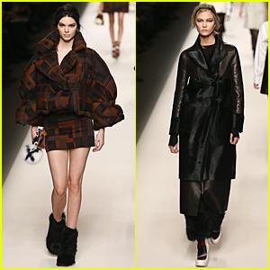 Kendall Jenner & Karlie Kloss Strut Their Stuff at Fendi Fashion Show