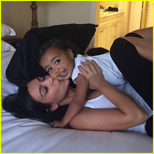 Kim Kardashian Cuddles With Her 'Snuggle Bear' North West