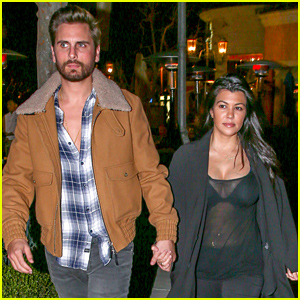 Kourtney Kardashian Shows Off Post-Baby Body in Sheer Top