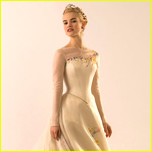 See Lily James In Cinderella's Wedding Dress Now!