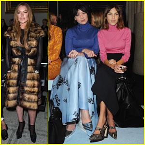 Lindsay Lohan Stays Stylish for London Fashion Week