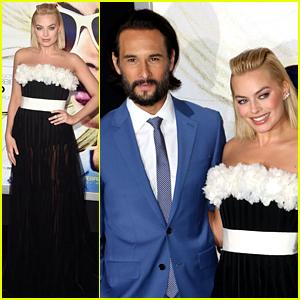 Margot Robbie & Rodrigo Santoro Dress Up for 'Focus' Premiere!