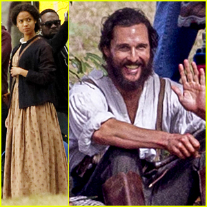 Matthew McConaughey & Gugu Mbatha-Raw Go Back in Time fro New Movie Shoot!
