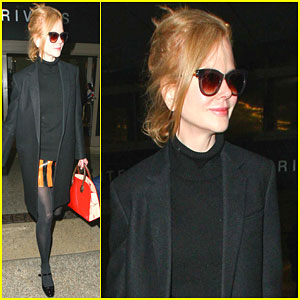 Nicole Kidman Returns to Sunny California After Debuting a New Haircut!