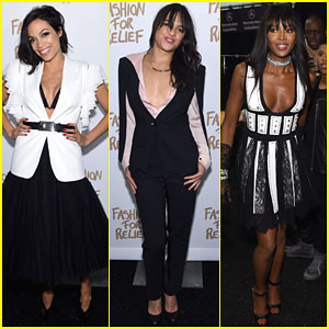 Rosario Dawson & Michelle Rodriguez Show Support for Fashion for Relief