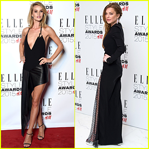 Rosie Huntington-Whiteley & Lindsay Lohan Wear Classic Black at Elle Style Awards 2015
