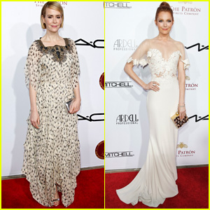 Sarah Paulson & Darby Stanchfield Get Dolled Up for Make-Up Artist & Hair Stylist Guild Awards 2015