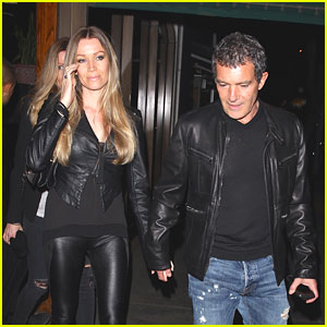 Antonio Banderas & Girlfriend Nicole Kimpel Make It a Date Night