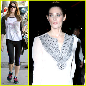 Ashley Greene Hits The Gym Before Dressy Dinner at Craig's