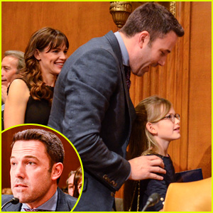Ben Affleck & Jennifer Garner Bring Daughter Violet to Congression
