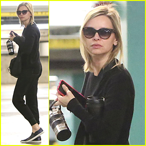 Calista Flockhart Spends Hours Visiting Harrison Ford at Hospital