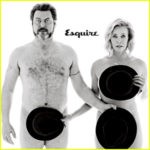 Chelsea Handler & Nick Offerman Go Naked for 'Esquire' - Read Their Very Revealing Interview!
