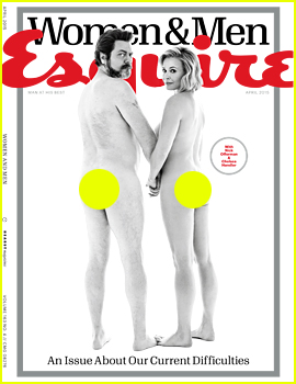 Chelsea Handler & Nick Offerman Go Fully Nude for 'Esquire'