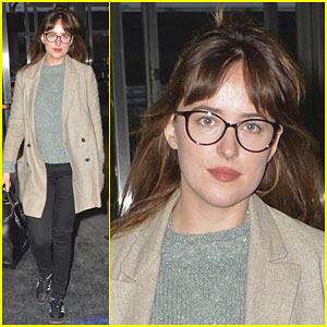 Dakota Johnson Jets Out of NYC