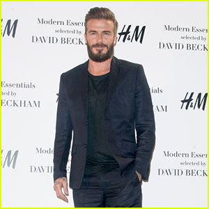 David Beckham Debuts New H&M Collection in Madrid