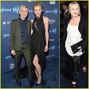 Ellen DeGeneres & Portia de Rossi Make It a Date Night at GLAAD Awards 2015