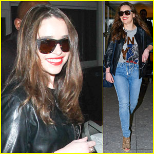 Emilia Clarke Jets Out of London & Over to L.A.