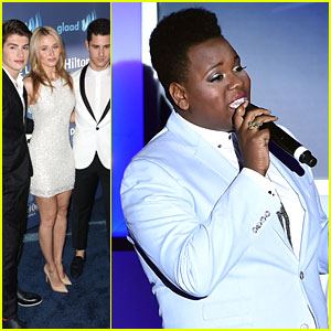 Glee's Alex Newell Performs to Standing Ovation at GLAAD Media Awards 2015